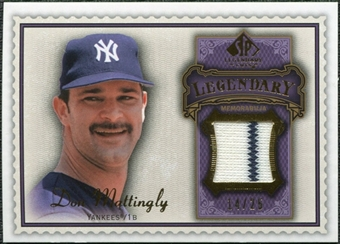 2009 Upper Deck SP Legendary Cuts Legendary Memorabilia Violet #DM2 Don Mattingly /25