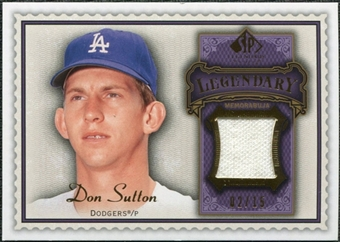 2009 Upper Deck SP Legendary Cuts Legendary Memorabilia Violet #DS Don Sutton /25