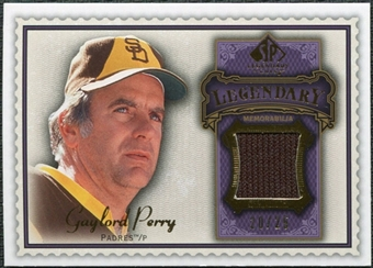 2009 Upper Deck SP Legendary Cuts Legendary Memorabilia Violet #GP4 Gaylord Perry /25
