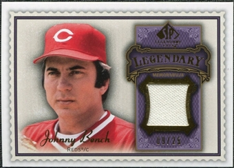 2009 Upper Deck SP Legendary Cuts Legendary Memorabilia Violet #JB2 Johnny Bench /25
