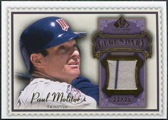 2009 Upper Deck SP Legendary Cuts Legendary Memorabilia Violet #PM2 Paul Molitor /25