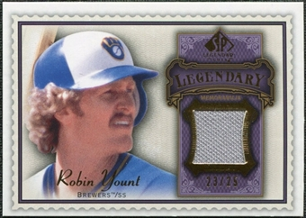 2009 Upper Deck SP Legendary Cuts Legendary Memorabilia Violet #RY2 Robin Yount /25