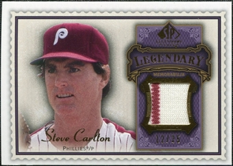 2009 Upper Deck SP Legendary Cuts Legendary Memorabilia Violet #SC2 Steve Carlton /25