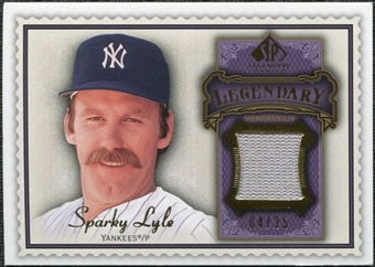 2009 Upper Deck SP Legendary Cuts Legendary Memorabilia Violet #SL2 Sparky Lyle /25