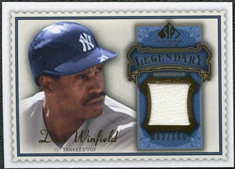 2009 Upper Deck SP Legendary Cuts Legendary Memorabilia Blue #DW2 Dave Winfield /100