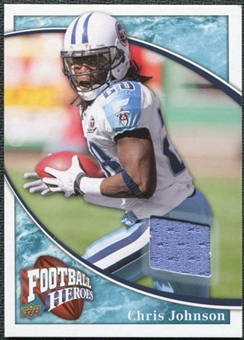 2009 Upper Deck Heroes Jerseys Retail Blue #RJCJ Chris Johnson