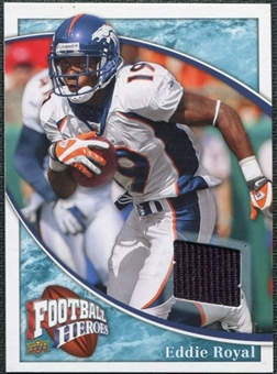 2009 Upper Deck Heroes Jerseys Retail Blue #RJER Eddie Royal
