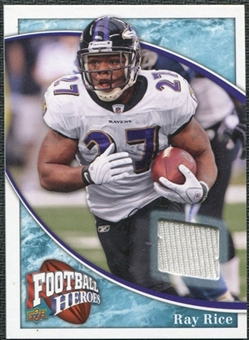 2009 Upper Deck Heroes Jerseys Retail Blue #RJRR Ray Rice