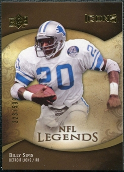 2009 Upper Deck Icons #195 Billy Sims /599
