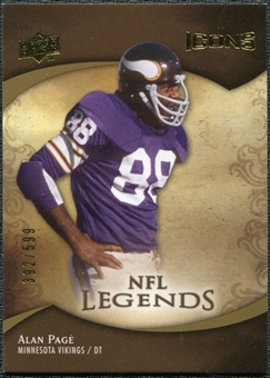 2009 Upper Deck Icons #198 Alan Page /599