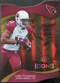 2009 Upper Deck Icons Gold Holofoil Die Cut #17 Larry Fitzgerald /75
