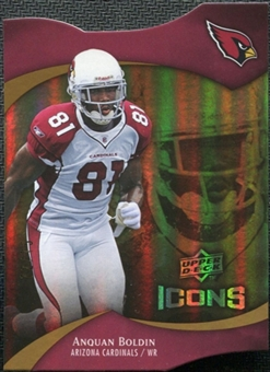 2009 Upper Deck Icons Gold Holofoil Die Cut #18 Anquan Boldin /75