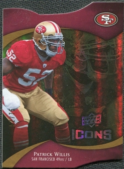 2009 Upper Deck Icons Gold Holofoil Die Cut #21 Patrick Willis /75