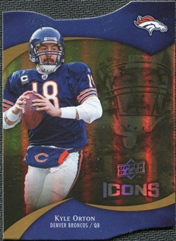 2009 Upper Deck Icons Gold Holofoil Die Cut #27 Kyle Orton /75