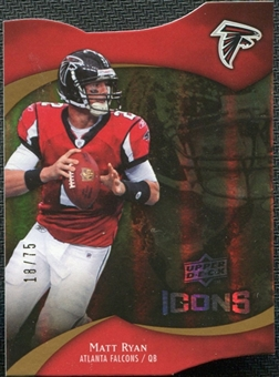 2009 Upper Deck Icons Gold Holofoil Die Cut #35 Matt Ryan /75