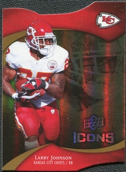 2009 Upper Deck Icons Gold Holofoil Die Cut #63 Larry Johnson /75