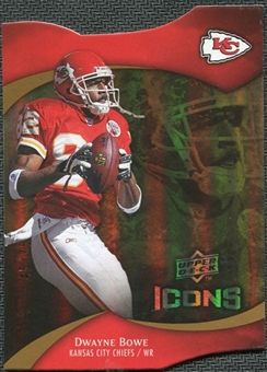 2009 Upper Deck Icons Gold Holofoil Die Cut #64 Dwayne Bowe /75