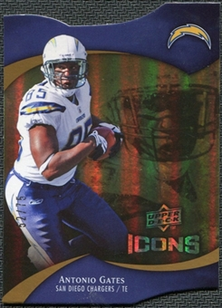 2009 Upper Deck Icons Gold Holofoil Die Cut #70 Antonio Gates /75