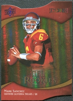 2009 Upper Deck Icons Gold Holofoil Die Cut #102 Mark Sanchez /50