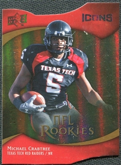 2009 Upper Deck Icons Gold Holofoil Die Cut #111 Michael Crabtree /50