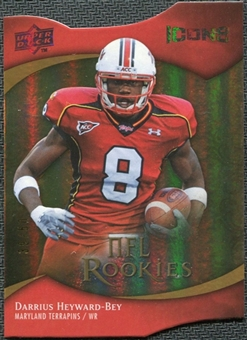 2009 Upper Deck Icons Gold Holofoil Die Cut #112 Darrius Heyward-Bey /50