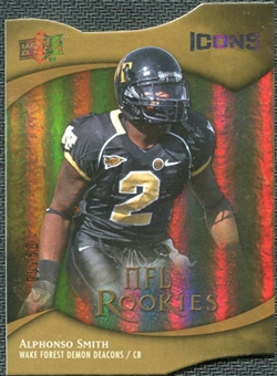 2009 Upper Deck Icons Gold Holofoil Die Cut #119 Alphonso Smith /50