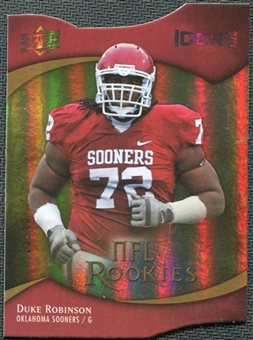 2009 Upper Deck Icons Gold Holofoil Die Cut #129 Duke Robinson /50