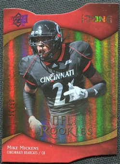 2009 Upper Deck Icons Gold Holofoil Die Cut #163 Mike Mickens /50