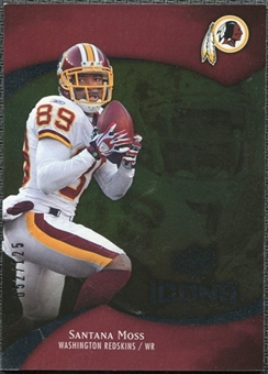 2009 Upper Deck Icons Gold Foil #15 Santana Moss /125