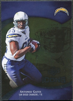 2009 Upper Deck Icons Gold Foil #70 Antonio Gates /125