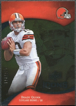 2009 Upper Deck Icons Gold Foil #80 Brady Quinn /125