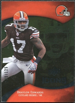 2009 Upper Deck Icons Gold Foil #81 Braylon Edwards /125