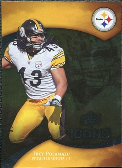 2009 Upper Deck Icons Gold Foil #85 Troy Polamalu /125