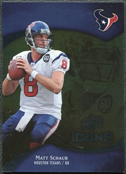 2009 Upper Deck Icons Gold Foil #88 Matt Schaub /125