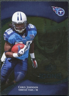 2009 Upper Deck Icons Gold Foil #98 Chris Johnson /125