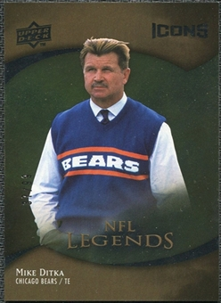 2009 Upper Deck Icons Gold Foil #187 Mike Ditka /99