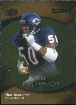 2009 Upper Deck Icons Gold Foil #189 Mike Singletary /99