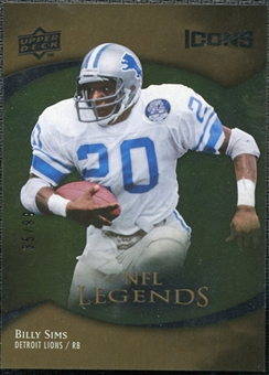 2009 Upper Deck Icons Gold Foil #195 Billy Sims /99
