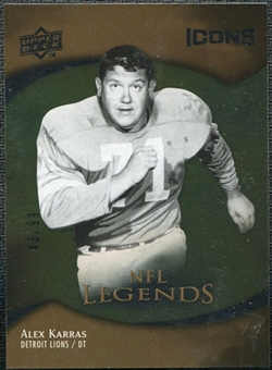 2009 Upper Deck Icons Gold Foil #200 Alex Karras /99