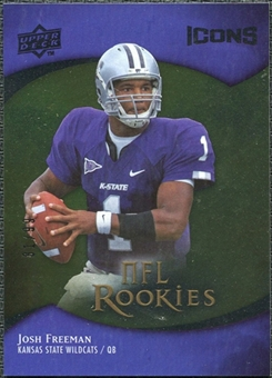2009 Upper Deck Icons Gold Foil #104 Josh Freeman /99
