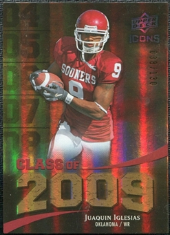 2009 Upper Deck Icons Class of 2009 Gold #JI Juaquin Iglesias /130
