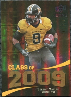 2009 Upper Deck Icons Class of 2009 Gold #JM Jeremy Maclin /130