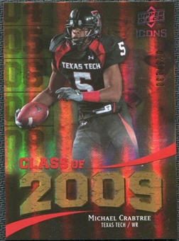 2009 Upper Deck Icons Class of 2009 Gold #MC Michael Crabtree /130
