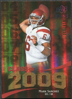 2009 Upper Deck Icons Class of 2009 Gold #MS Mark Sanchez /130