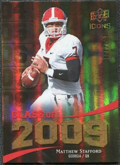 2009 Upper Deck Icons Class of 2009 Gold #ST Matthew Stafford /130
