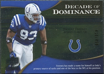 2009 Upper Deck Icons Decade of Dominance Silver #DDDF Dwight Freeney /450
