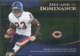 2009 Upper Deck Icons Decade of Dominance Silver #DDDH Devin Hester /450