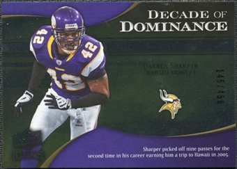 2009 Upper Deck Icons Decade of Dominance Silver #DDDS Darren Sharper /450