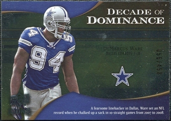 2009 Upper Deck Icons Decade of Dominance Silver #DDDW DeMarcus Ware /450