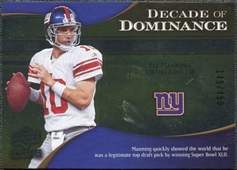 2009 Upper Deck Icons Decade of Dominance Silver #DDEM Eli Manning /450